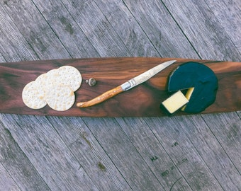 Leather Handled Handmade Charcuterie & Appitizer Tray in Walnut