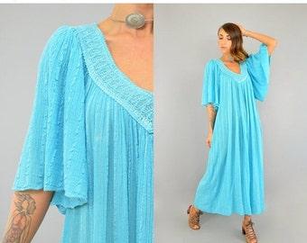 SUMMER SALE 70's Grecian Gauze Dress