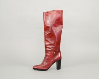 SALVATORE FERRAGAMO Italian Leather Boots US 7.5