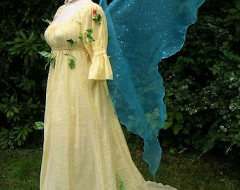 BRIGHT GREEN Moonbeam Fairy Wings With Glittery Shamrocks Costume adult xl gown dress up Absinthe leprechaun elf Faerie cosplay plus witch