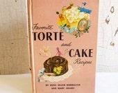 Vintage 'Favorite Torte and Cake Recipes' Cookbook - 1951 Recipe Book - Mid-Century Dessert Recipes