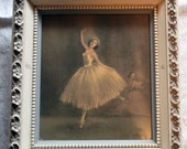 Vintage 1940'S Framed Ballet Picture Set Dance Interpretation by Sophie Fashion Plate
