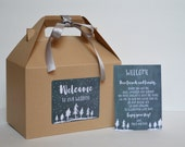 Out of Town welcome Box / Winter wedding guest box / Wedding Welcome Box / Out of town guest box - Set of 10