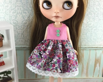 Blythe Dress - Flowers and Doggies