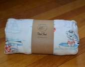 Flannel Fitted Crib Sheet - Sailor Bear - SALE