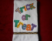Halloween Hand Towel Bathroom or Kitchen Just a Simple Trick or Treat