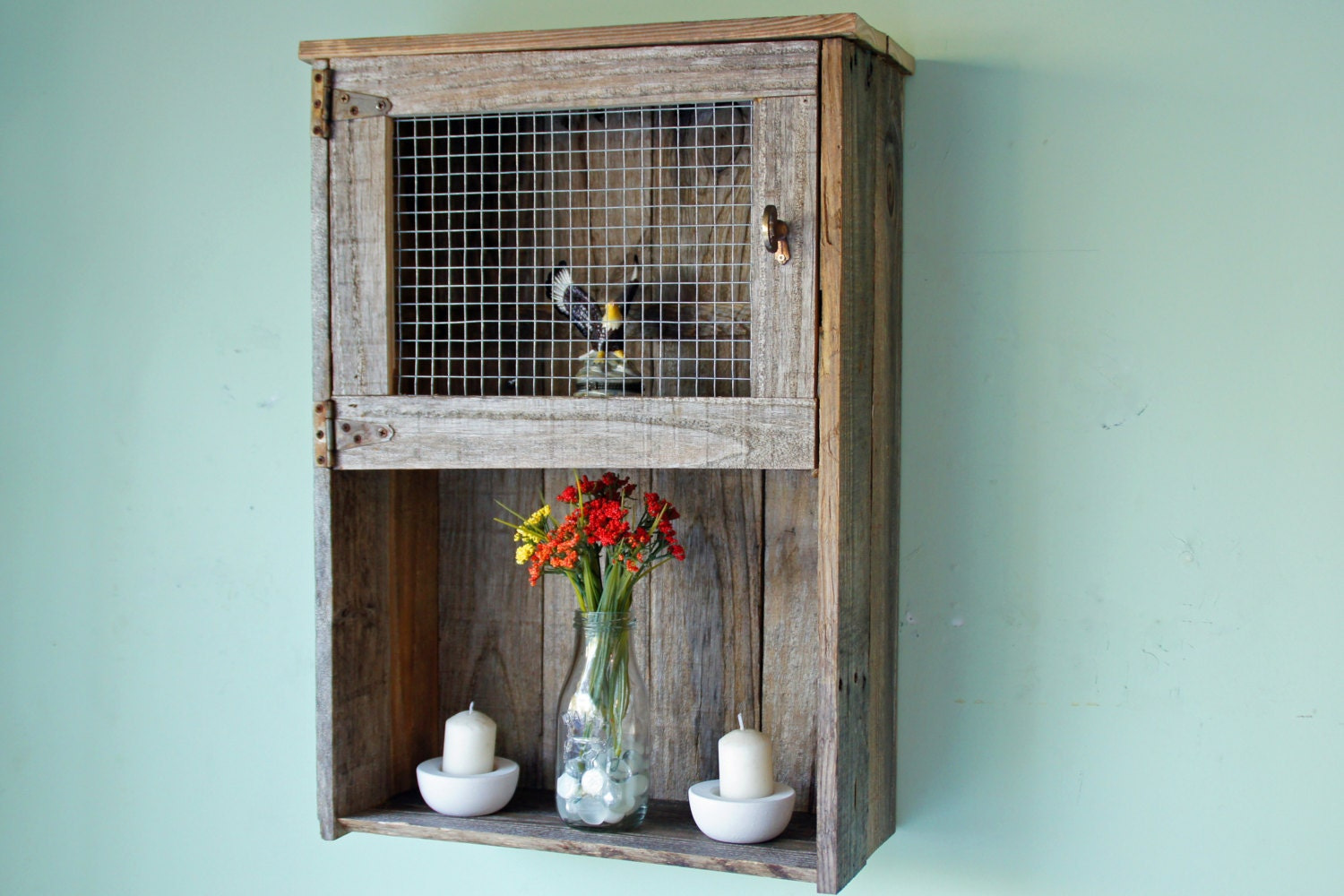 Rustic Wall Cabinet Reclaimed Wood Wall Cabinet Bathroom