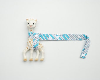Toy Saver - Blue and Grey Geometric with white snaps