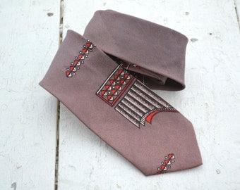 1950s Slim Printed Necktie