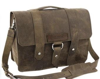 "14"" Distressed Newtown Journeyman Laptop Bag - 14-J-DIS-LAP"