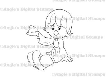 Daisy May With Chocolate Chip Digital Stamp Image