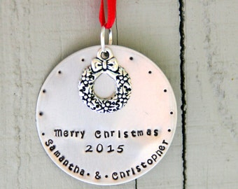Merry Christmas Ornament -  Housewarming Gift Ornament - Boyfriend Christmas Ornament - 1 st Christmas Together - Housewarming Gift