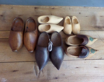 vintage FRENCH mini wooden clogs - an instant collection