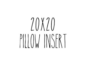 "20"" x 20"" Faux Down Pillow Insert - Vegan Pillow Insert Polyester"