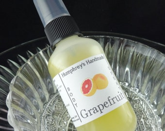 GRAPEFRUIT Body Spray, Citrus Grapefruit Scented All Natural Perfume Room and Linen Spray 2 oz, Witch Hazel Fragrance Scent Essential Oil