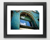 Emerald Green Architecture Art, Urban Grunge Art, Vintage Art
