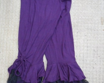 "20%OFF lagenlook 3/4 PANTS with ruffles...small to firmer 36"" hips or waist...."