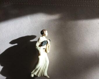 Star Wars White Princess Leia figurine plastic Star Wars 2 inch Dolls action figure MINI Princess