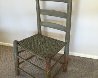 1800's Painted Correctional Posture Chair