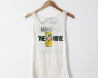 SALE vintage Mello Yello tank top, Buddy Nix football camp t-shirt
