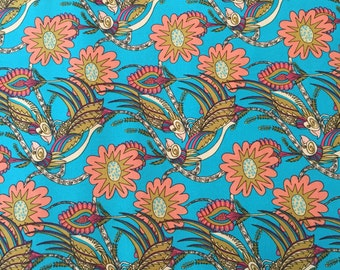 Chatting blue, Flock together Collection by Kathy Doughty for Free Spirit Fabrics 1/2 yd