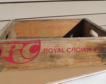 Vintage Wooden RC Soda Pop Crate