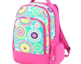 SALE Monogram Piper School Backpack Bookbag - Girls
