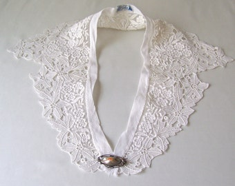 Vintage Lace Collar Karyl Lee Costume Design Ladies Lacy Collar Old Lace Collar 1950s