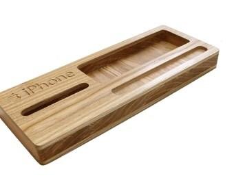 Desk Caddy: Wood Desk Organizer Pencil Box Utensils Box Desktop Organizer Office Organizer Desk Storage Pencil Holder Pen Holder Keys Caddy