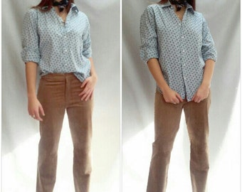 "Vintage 90s tan leather pants /  stovepipe cut  sm, med 30"" waist"