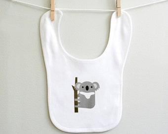 Koala baby bib, Koala burp bib