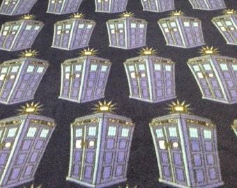 Fleece Knotted Tied Blanket - Doctor Who Tardis - Time Lord - Handmade - Fleece