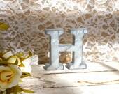 Galvanized Metal Letter wall art decor vintage style You Pick Alphabet Initial Monogram Small  tin