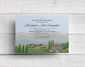 Vineyard Wedding Save the Date - Sample