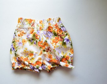 SALE - Citrus Pop Double Ruffle Bloomer Shorts by Papoose Clothing