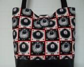 Emma Tote Bag in Sheepy Squares