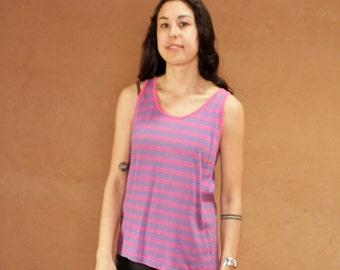 vintage 90s striped OXFORD soft SPRING t shirt top