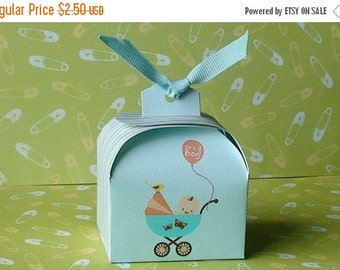 50% off Printable Baby Boy shower favor box, cupcake wrapper and topper