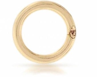 14Kt Gold Filled 18ga 5mm Closed Jump Rings  - 10pcs  15% discounted Made in USA (4465)/1