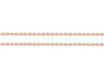 14kt Rose Gold Filled 1.3x1mm Flat Cable Chain -5ft Small yet strong Bulk Quantity Discounted Prices (8533-5)/1