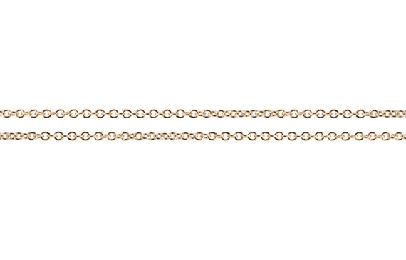14Kt Gold Filled 1x1.2mm Cable Chain - 100ft  Bulk Chain Discounted Price (2474-100)/1