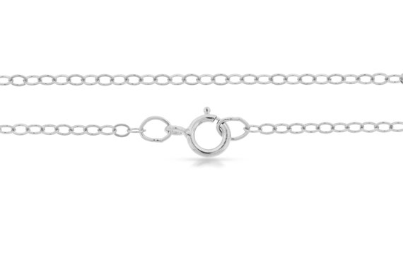 Sterling Silver 2.2x1.6mm 24 Inch Flat  Cable Chain - 1pc (2734)