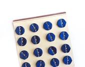 24 Blue Antique Bakelite Buttons