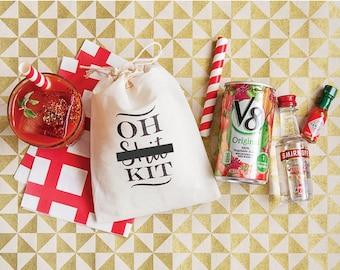 Oh Shit Kits - Oh Shit Kit Favor Bags - Hangover Kit Bags - Bachelorette Party Favor Bags - Mature Content - Bachelorette Oh Shit Kits