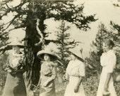 "Vintage Photo ""Secret Ladies Hiking Club"" Snapshot Old Antique Photo Black & White Photograph Found Paper Ephemera Vernacular - 66"