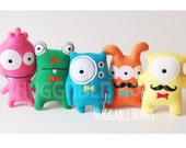 Stuffed Monsters - Monster Mash - Adopt a Monster Birthday Party - Monster Plush - Toy Monster - Party Favors - Halloween Toy - Ghosts