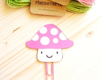 Mushroom Planner Clip, Mushroom Paper Clip, Planner Accessories, Stationery, Paperclips, Page Marker, Mushroom FiloFax Clip Decoration