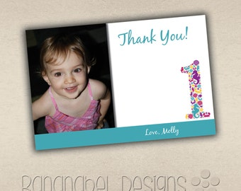 Under the Sea Seahorse Thank You Card with Photo