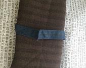 Brown Subtle Stripe Wool Remnant