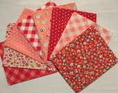 Red & Pink Bundle of Vintage Picnic by Bonnin and Camille for Moda